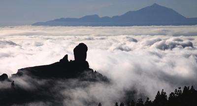 El Roque Nublo y el Teide