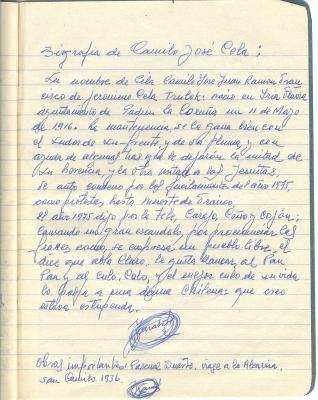 Biografia de Camilo Jose Cela (Las letras de mi padre)