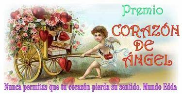 "Nuevo premio para mi blog ""Premio Corazon de Angel"""