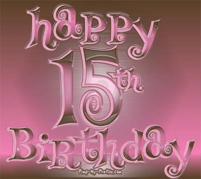 Feliz 15 Cumpleaños